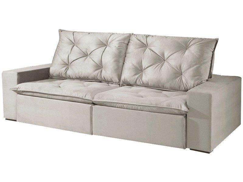 Foto 1 - Sofá Retrátil e Reclinável 4 Lugares Suede - Reta Moderna Florence American Comfort