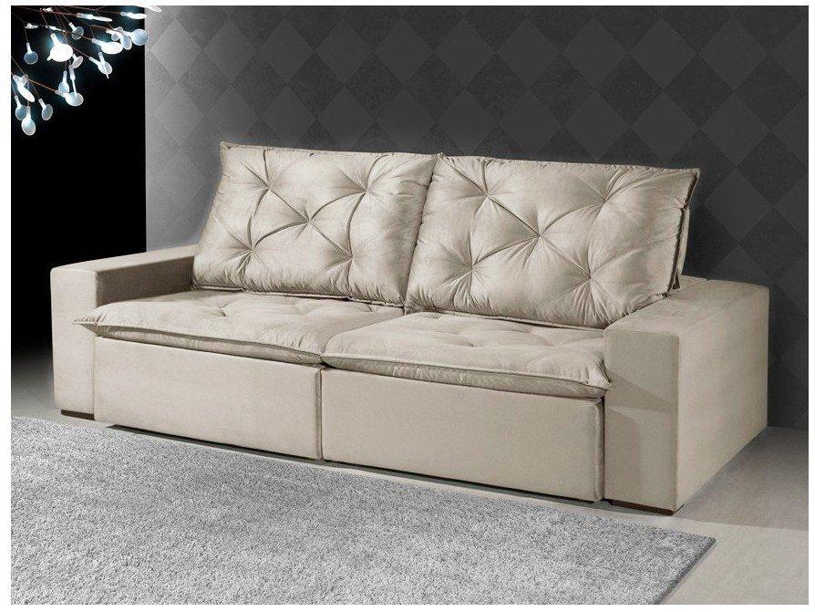 Foto 2 - Sofá Retrátil e Reclinável 4 Lugares Suede - Reta Moderna Florence American Comfort