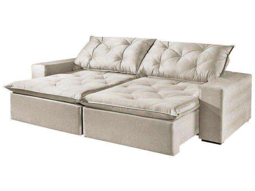 Foto 3 - Sofá Retrátil e Reclinável 4 Lugares Suede - Reta Moderna Florence American Comfort