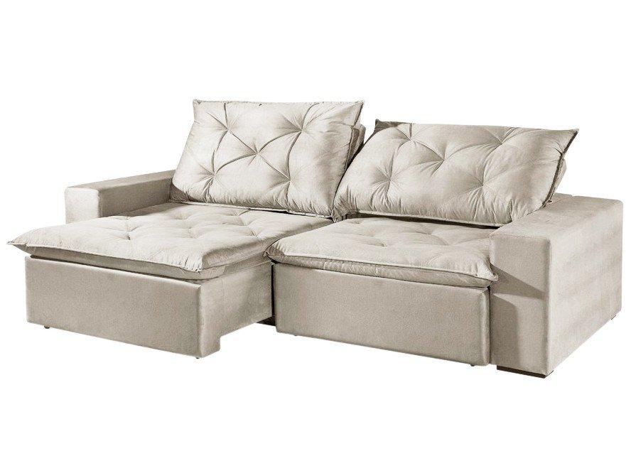 Foto 4 - Sofá Retrátil e Reclinável 4 Lugares Suede - Reta Moderna Florence American Comfort