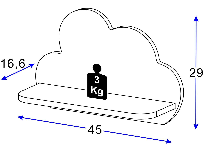 Conjunto com 2 Prateleiras Multimóveis Nuvem - Azul - 12