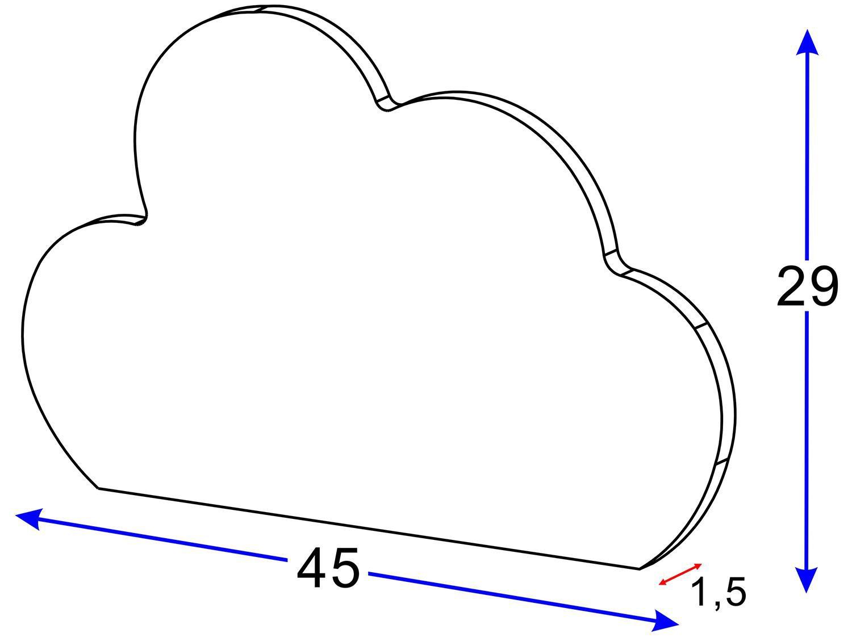 Conjunto com 2 Prateleiras Multimóveis Nuvem - Azul - 16
