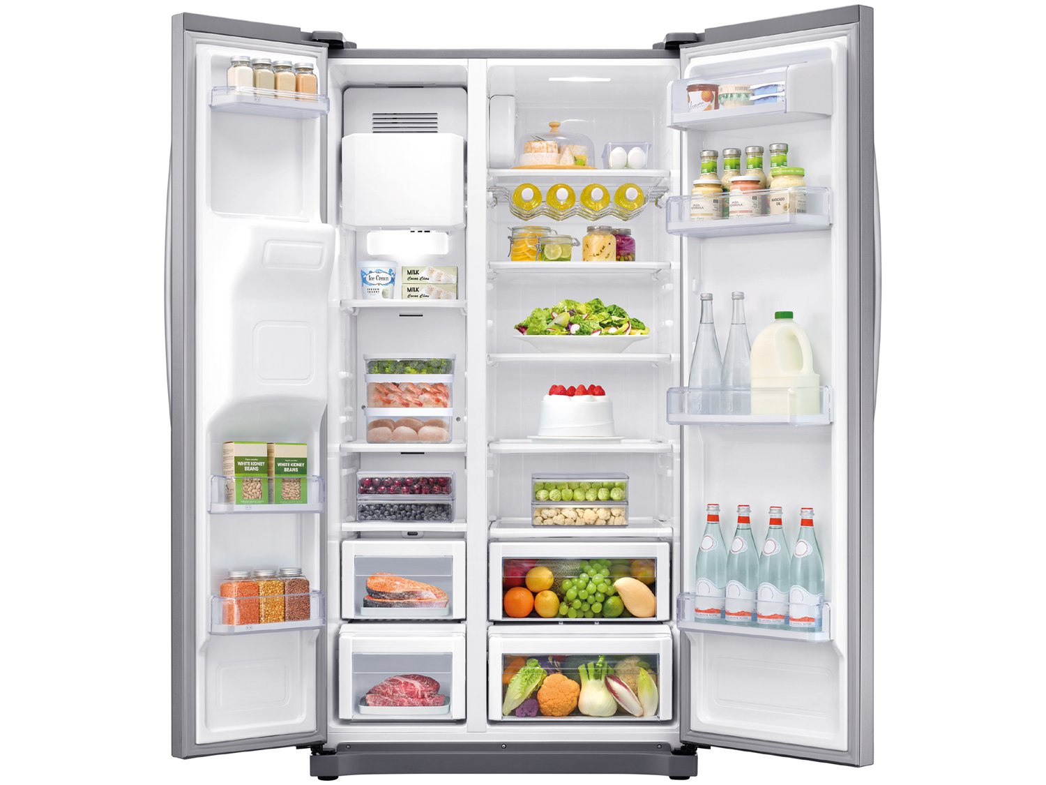 Refrigerador Samsung RS50N Side by Side Inox Look - 501L - 110v - 6