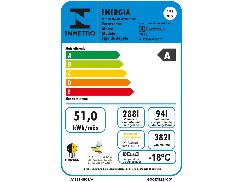 Geladeira/Refrigerador Electrolux Frost Free - Duplex Branca 382L TF42 - 110 V - 4