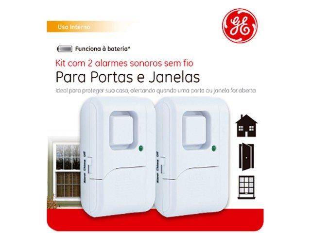 Alarme de Porta e Janela Sem Fio GE 39078 - 2 Unidades - 12