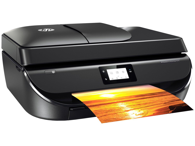 Foto 1 - Impressora Multifuncional HP Deskjet Ink Advantage - 5276 Jato de Tinta Wi-Fi Colorida USB