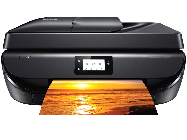 Foto 2 - Impressora Multifuncional HP Deskjet Ink Advantage - 5276 Jato de Tinta Wi-Fi Colorida USB
