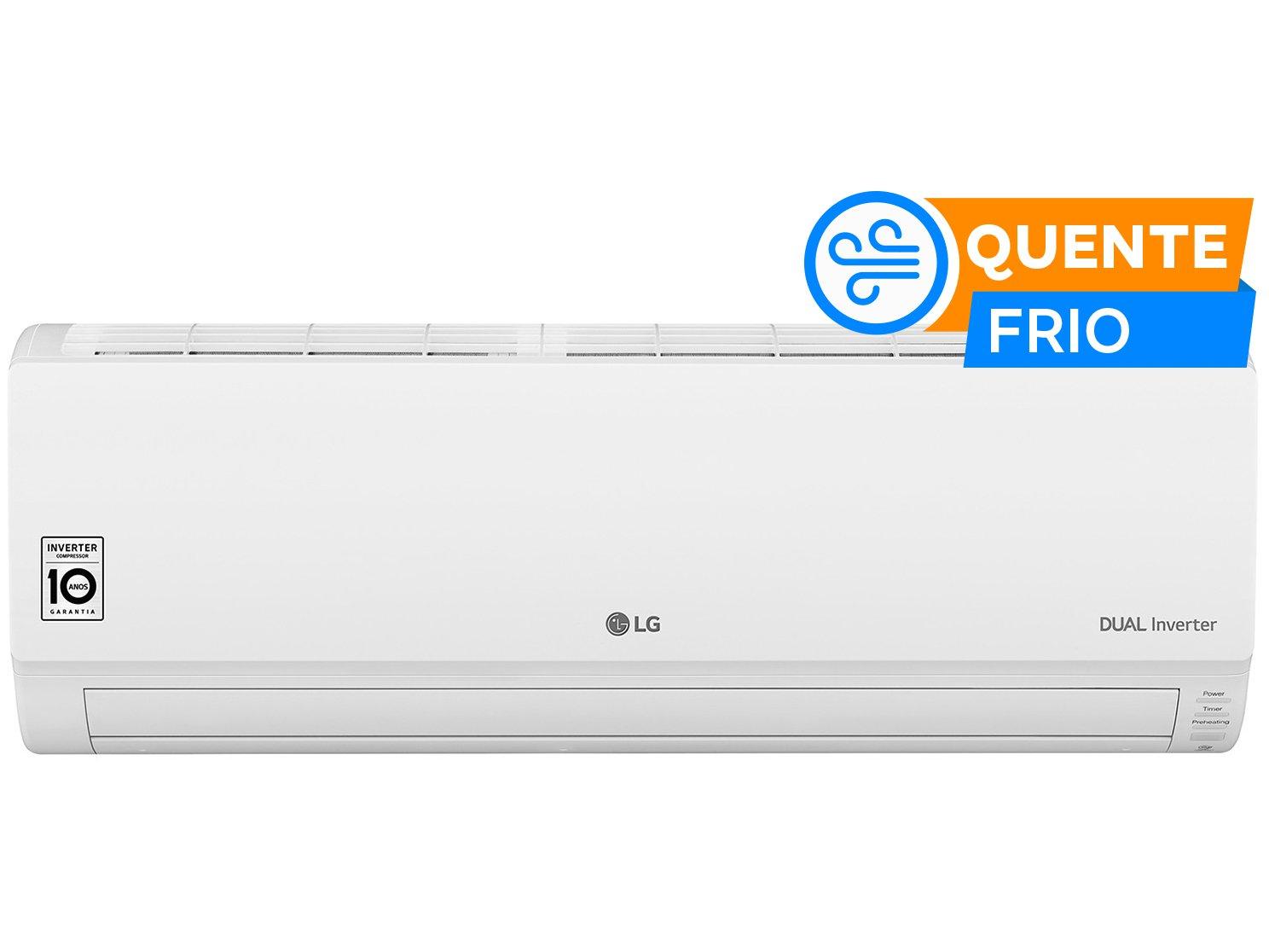 Ar-condicionado Split LG Inverter 9.000 BTUs - Quente/Frio Dual Inverter S4W09WA5WA - 220 V - 1