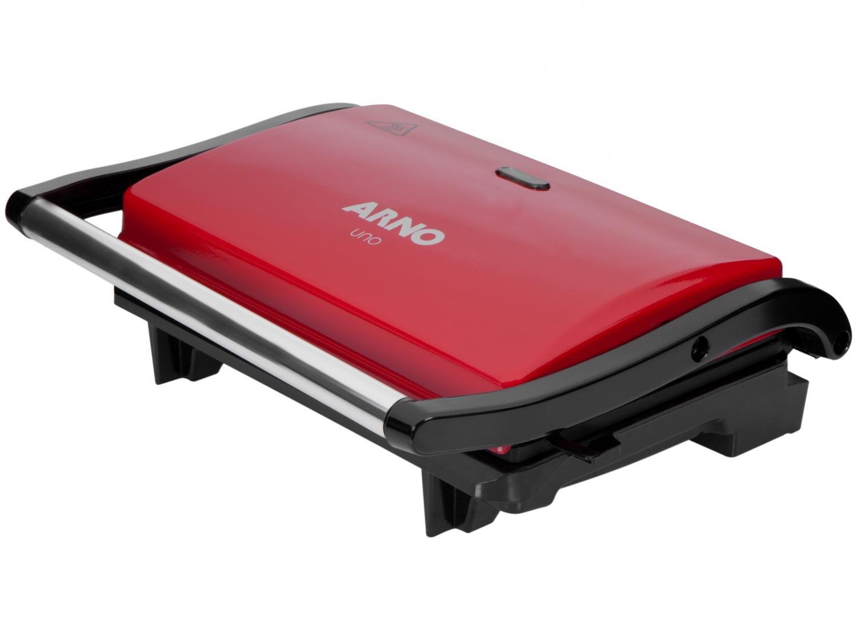 Grill Arno Compact Uno com Antiaderente - Vermelho - 110V - 8