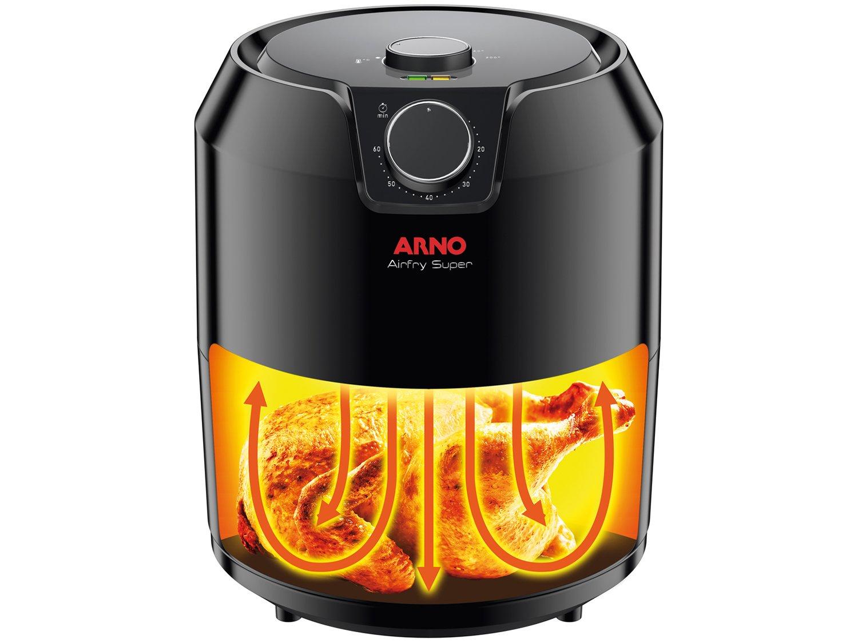 Fritadeira Sem Óleo Air Fryer Arno Super BFRY 4,2 L – Preta - 220V - 5