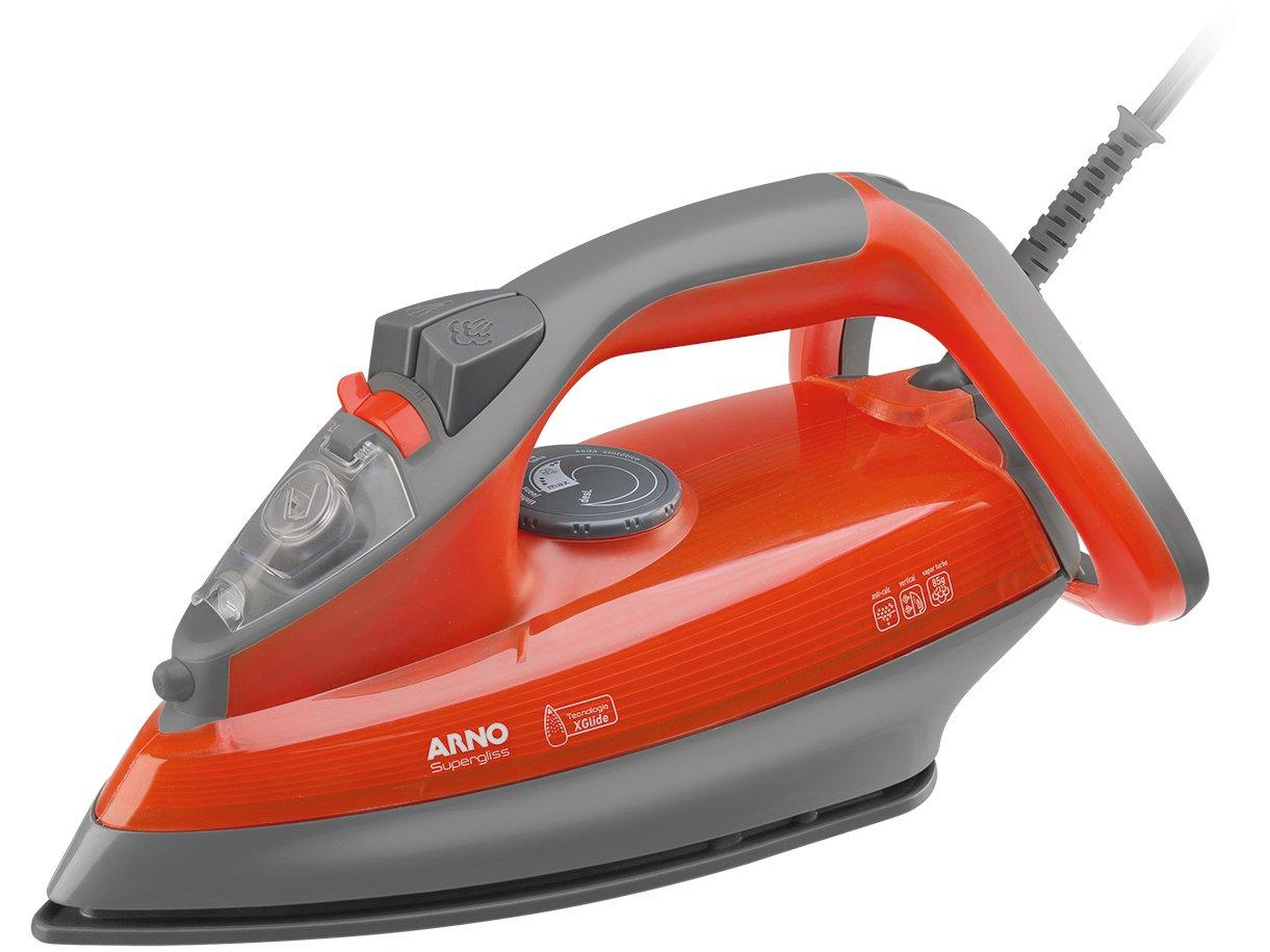 Ferro a Vapor Arno Supergliss FSX1 com Spray – Cinza e Laranja - 110V - 2