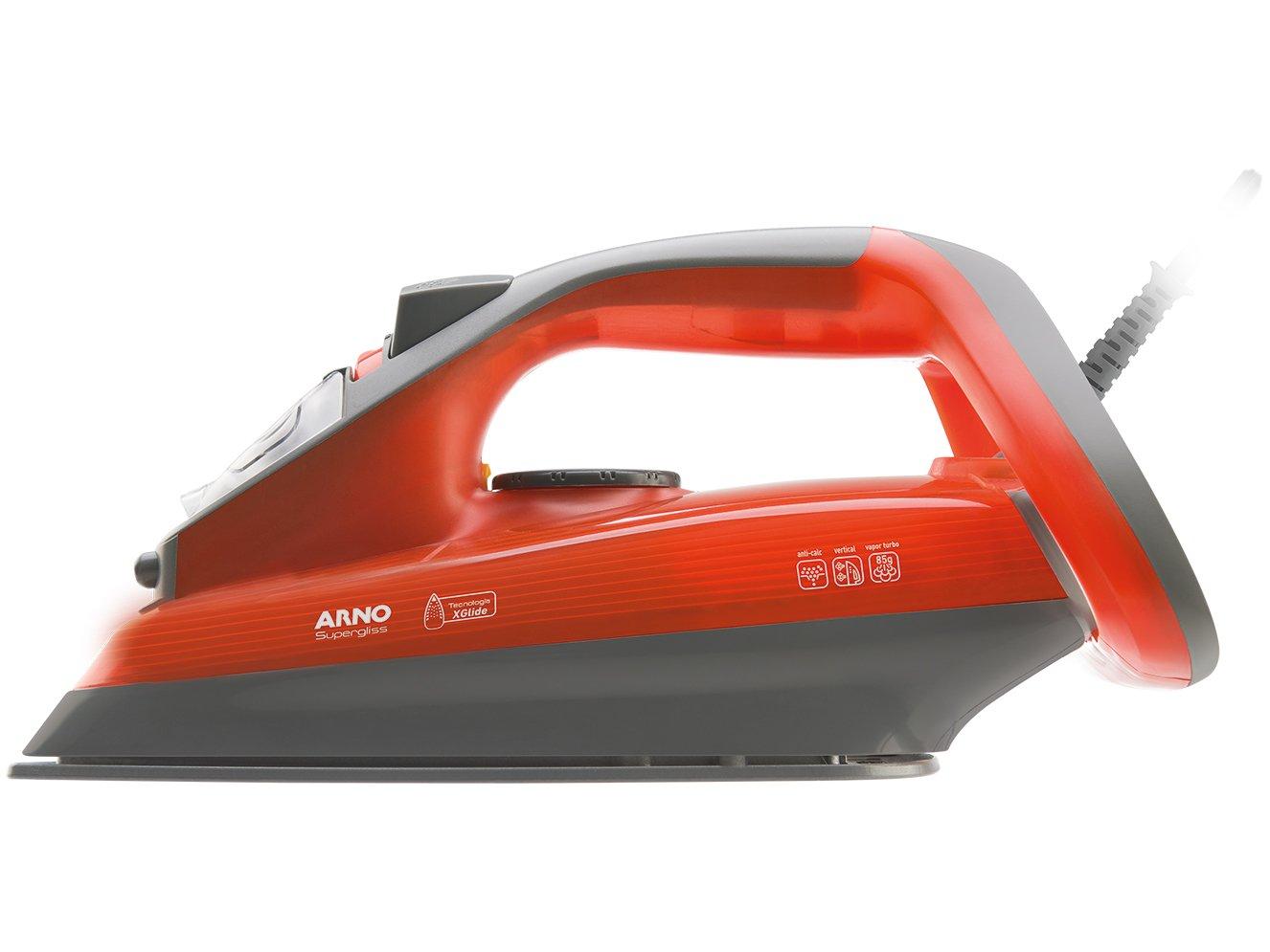 Ferro a Vapor Arno Supergliss FSX1 com Spray – Cinza e Laranja - 110V - 4