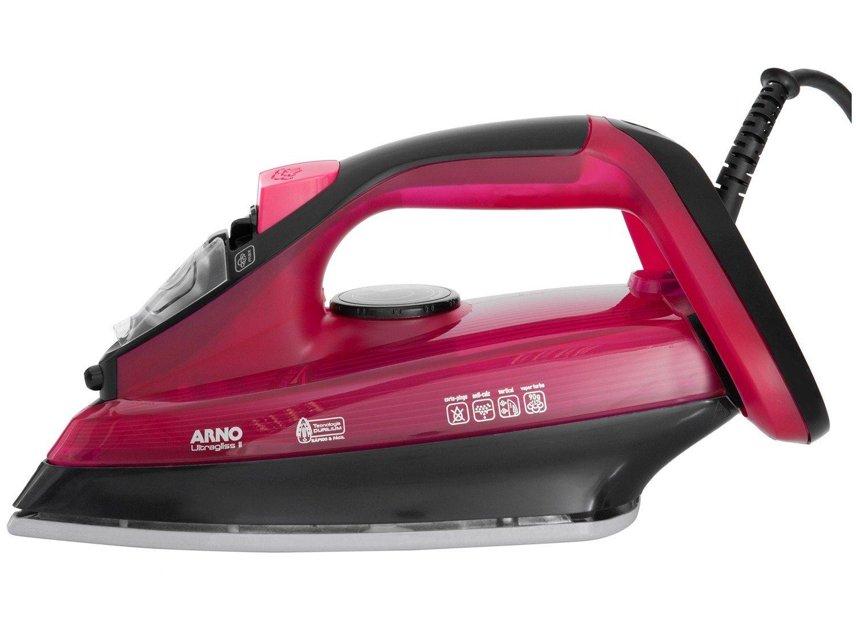 Ferro a Vapor Arno Ultragliss I FUA2 com Spray – Preto e Rosa - 110V - 4