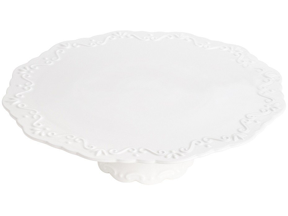 Prato para Bolo de Porcelana Redonda Wolff - Alto Relevo - 2