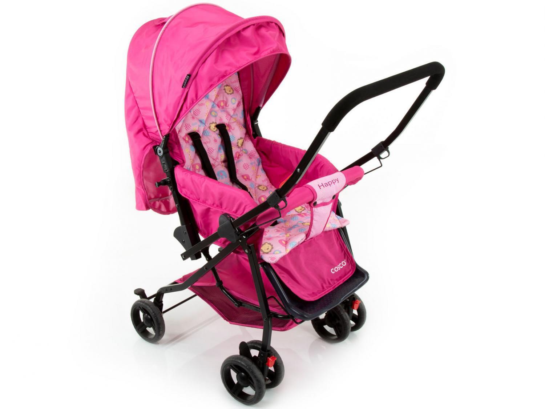 Carrinho de Bebê Passeio Cosco Happy Reclinável - Alça Reversível 3 Posições para Crianças até 15kg - 4