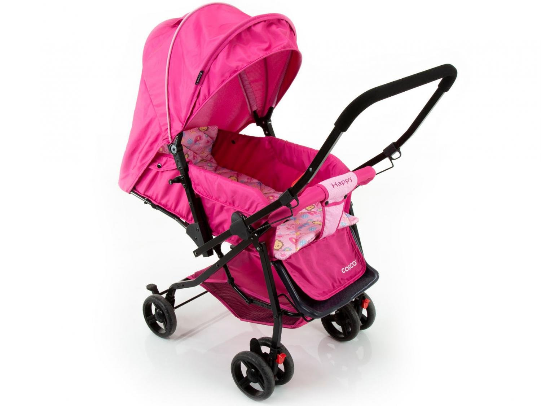 Carrinho de Bebê Passeio Cosco Happy Reclinável - Alça Reversível 3 Posições para Crianças até 15kg - 8