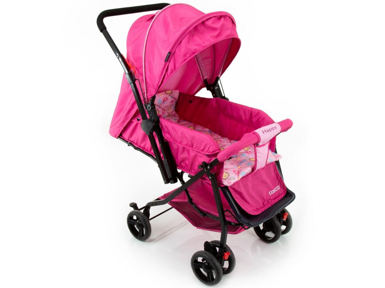 Carrinho de Bebê Passeio Cosco Happy Reclinável - Alça Reversível 3 Posições para Crianças até 15kg - 16