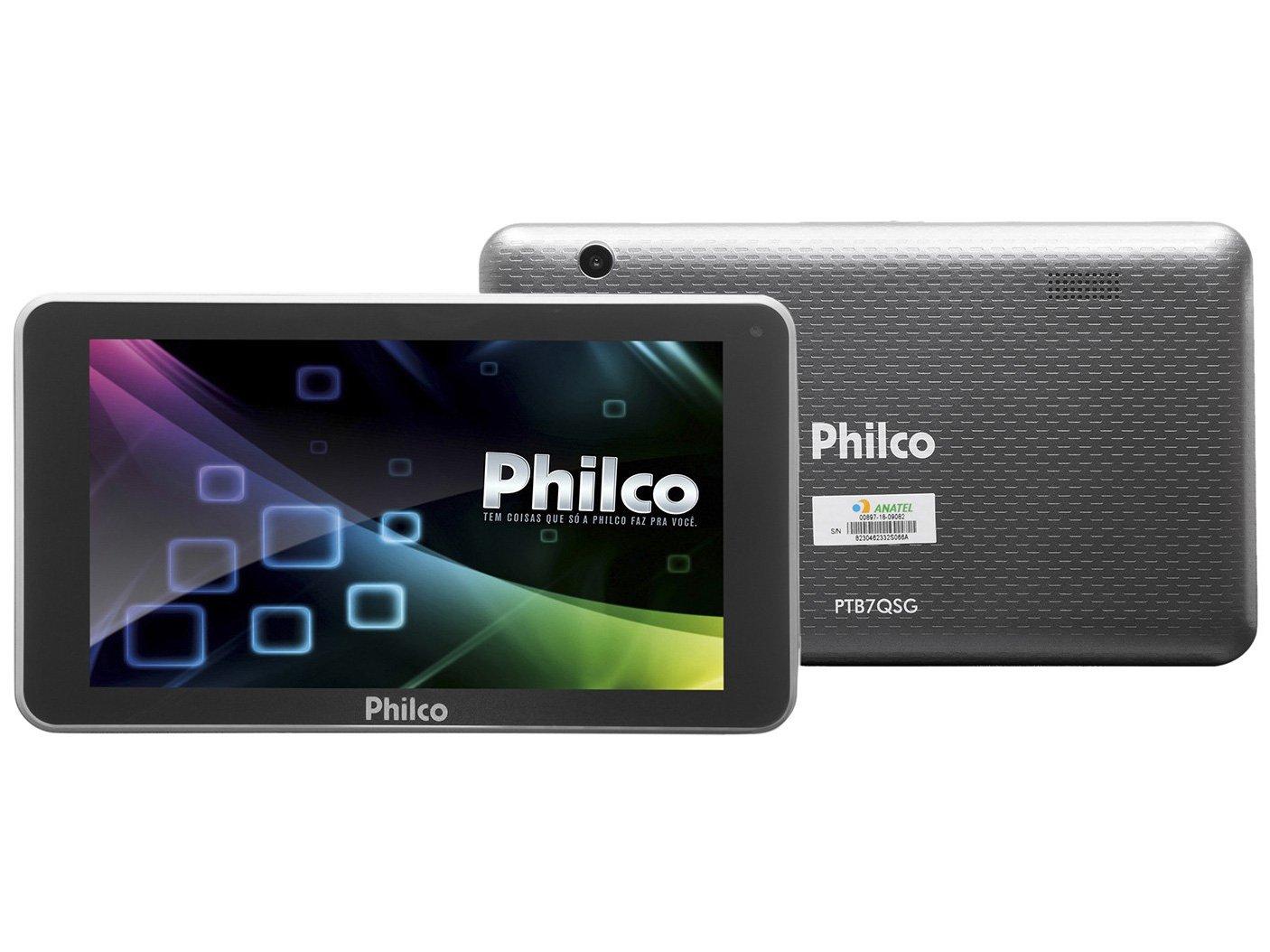 Foto 1 - Tablet Philco PTB7QSG 8GB 7 Wi-Fi - Android 7.1.2 Nougat Quad Core