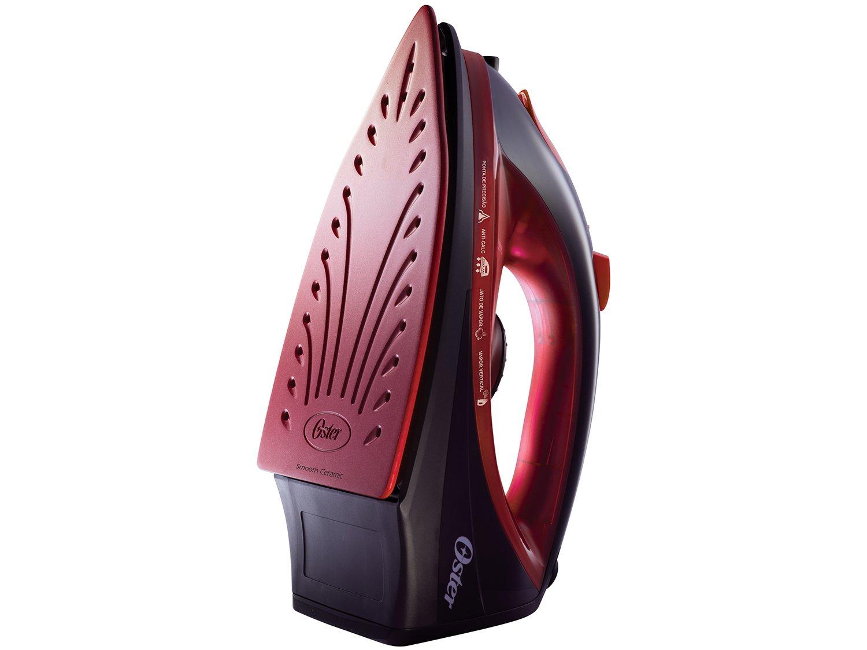 Ferro a Vapor Oster 5966 com Antiaderente de Cerâmica - Preto e Vermelho - 110V - 4