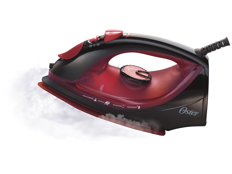 Ferro a Vapor Oster 5966 com Antiaderente de Cerâmica - Preto e Vermelho - 110V - 8