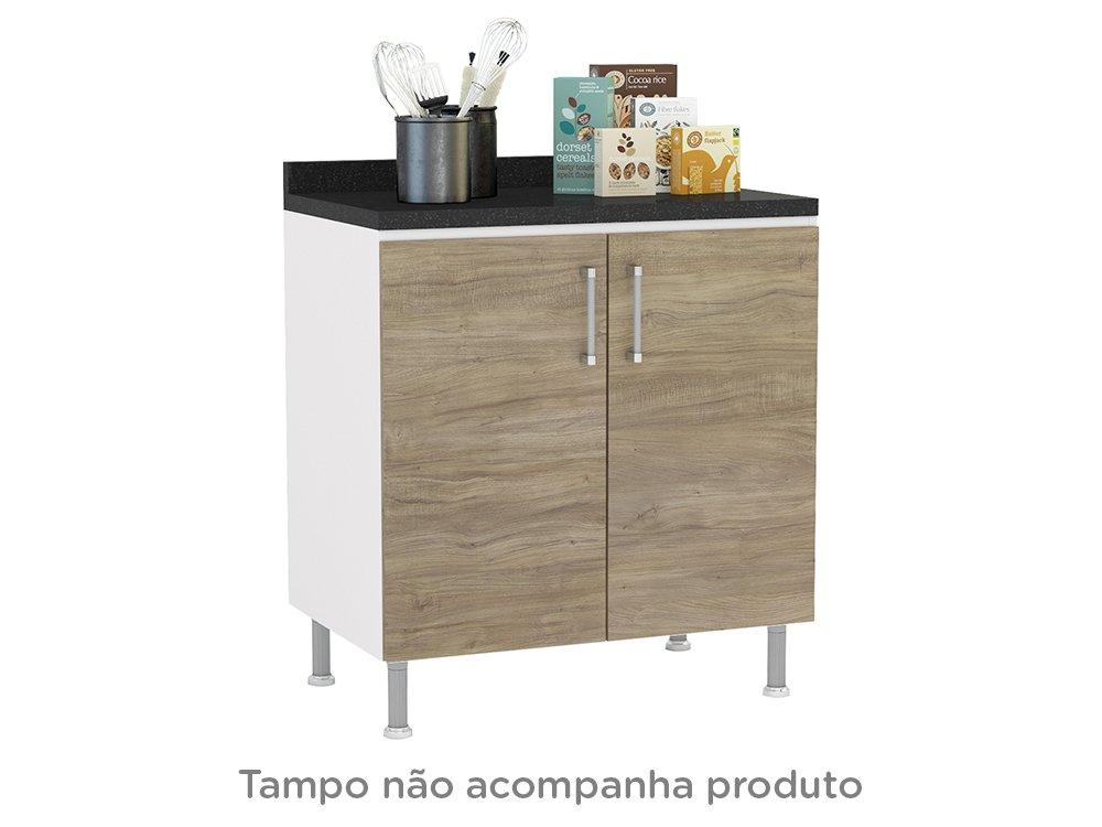 Foto 13 - Cozinha Completa Politorno Floripa com Balcão - 8 Portas 4 Gavetas