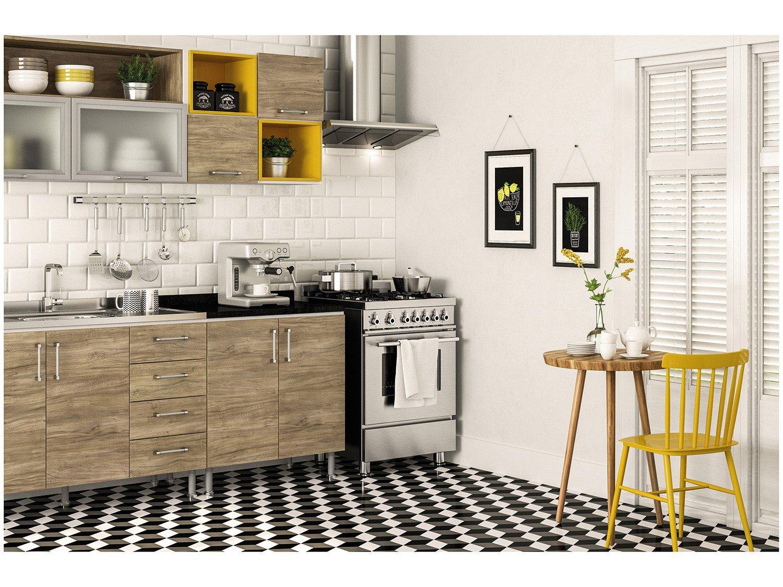 Foto 20 - Cozinha Completa Politorno Floripa com Balcão - 8 Portas 4 Gavetas