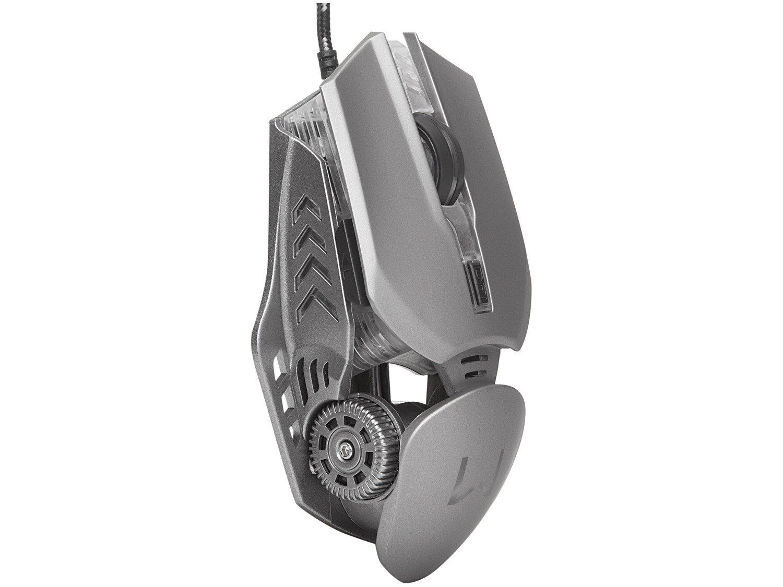 Mouse Gamer Warrior Keon Óptico - 3200dpi 6 Botões - 4