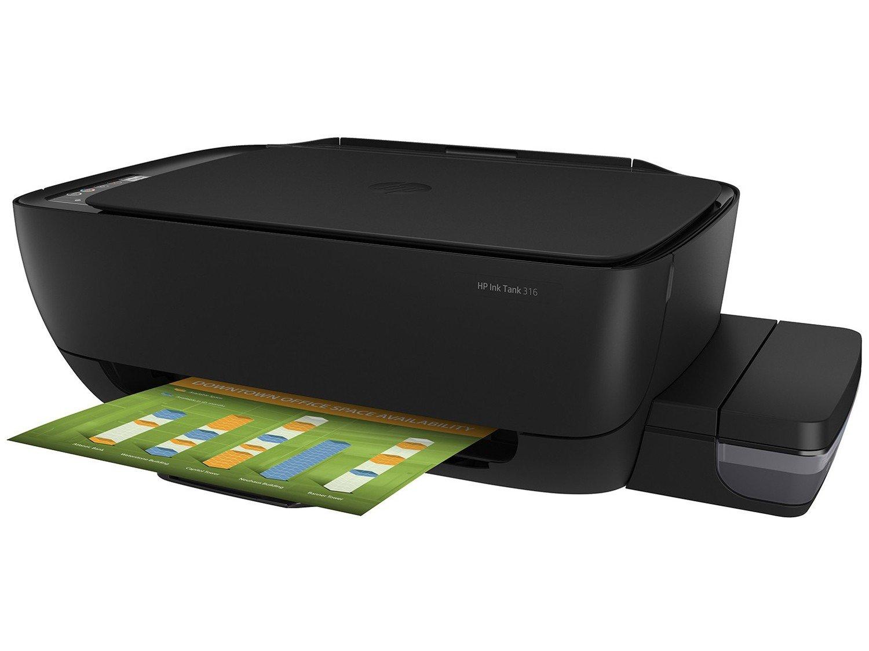 Foto 1 - Impressora Multifuncional HP Ink Tank 316 - Jato de Tinta Colorida LCD 1,14 USB