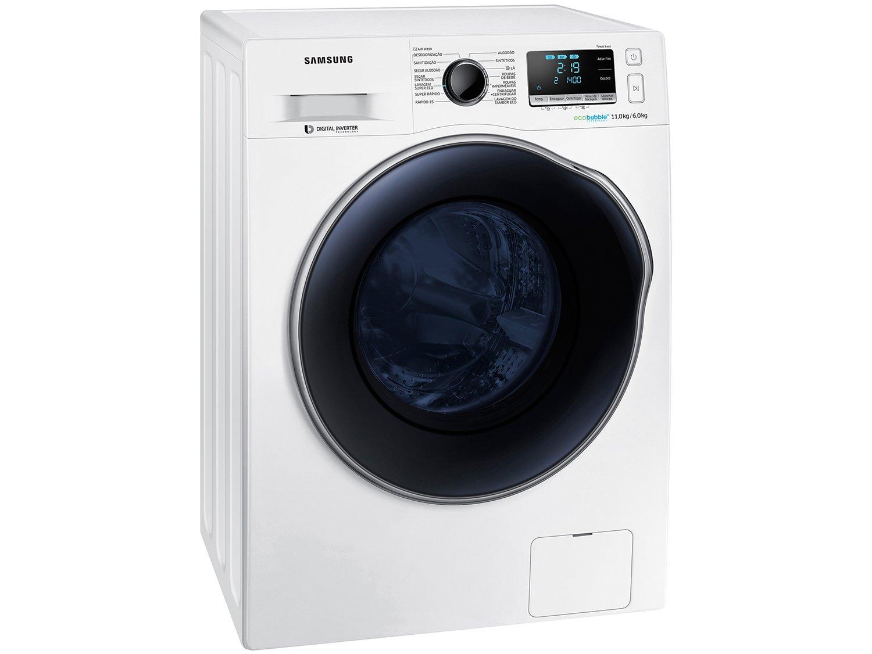 Lava e Seca Samsung WD11J6410AW com Ecobubble Branca – 11Kg - 220v