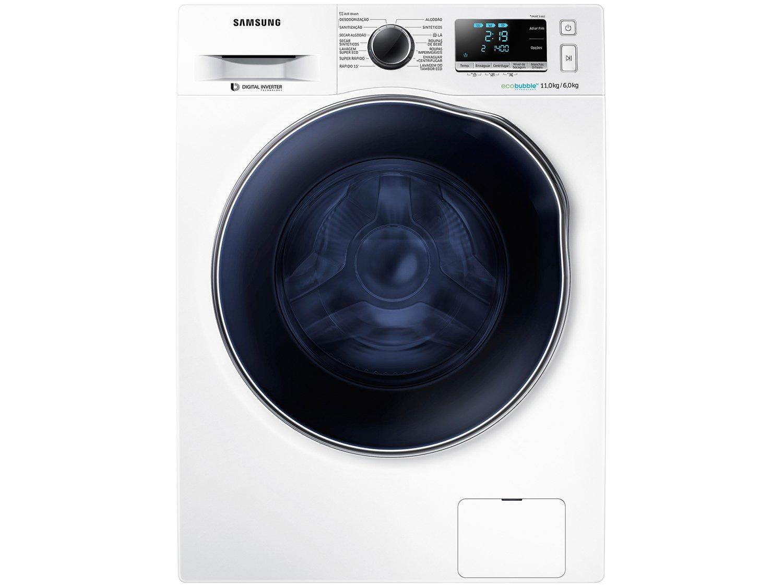 Lava e Seca Samsung WD11J6410AW com Ecobubble Branca – 11Kg - 220v - 3