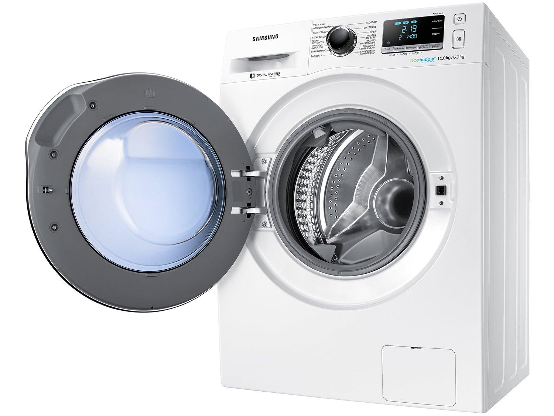 Lava e Seca Samsung WD11J6410AW com Ecobubble Branca – 11Kg - 220v - 6