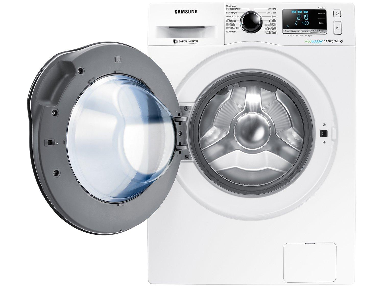 Lava e Seca Samsung WD11J6410AW com Ecobubble Branca – 11Kg - 220v - 9