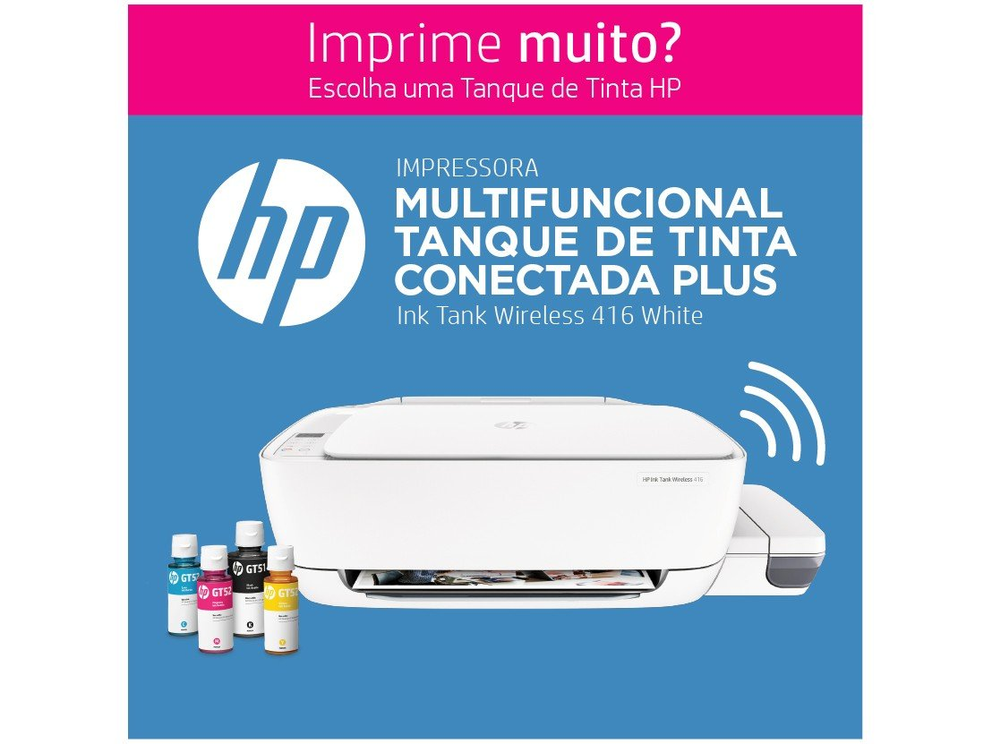 Foto 9 - Impressora Multifuncional HP Ink Tank Wireless 416 - Tanque de Tinta Wi-Fi Colorida LCD 1,14 USB