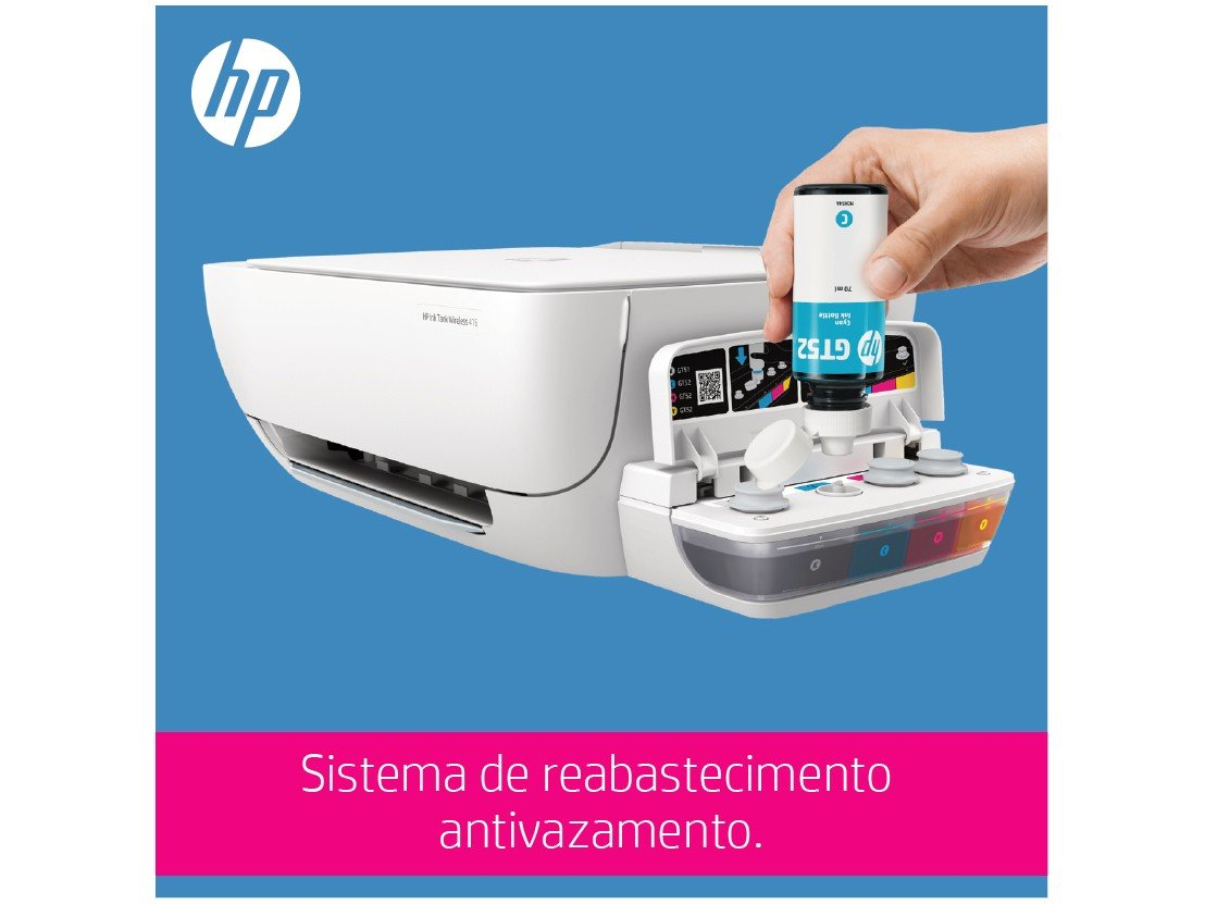 Foto 10 - Impressora Multifuncional HP Ink Tank Wireless 416 - Tanque de Tinta Wi-Fi Colorida LCD 1,14 USB