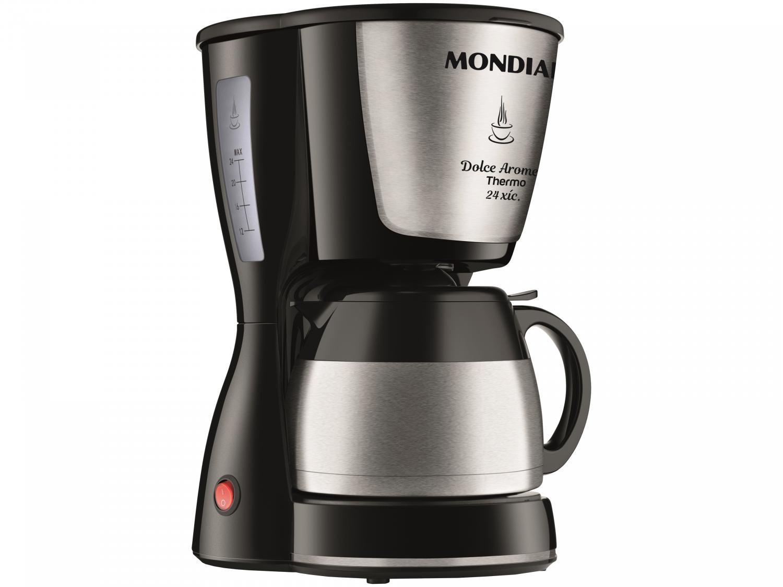 Cafeteira Elétrica Mondial Dolce Arome Thermo Inox C-33 JT 24 Xícaras - Preto - 220V