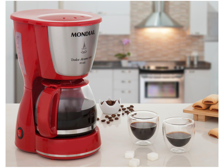 Cafeteira Elétrica Mondial Dolce Arome Vermelha - 18 Xícaras - 110 V - 1