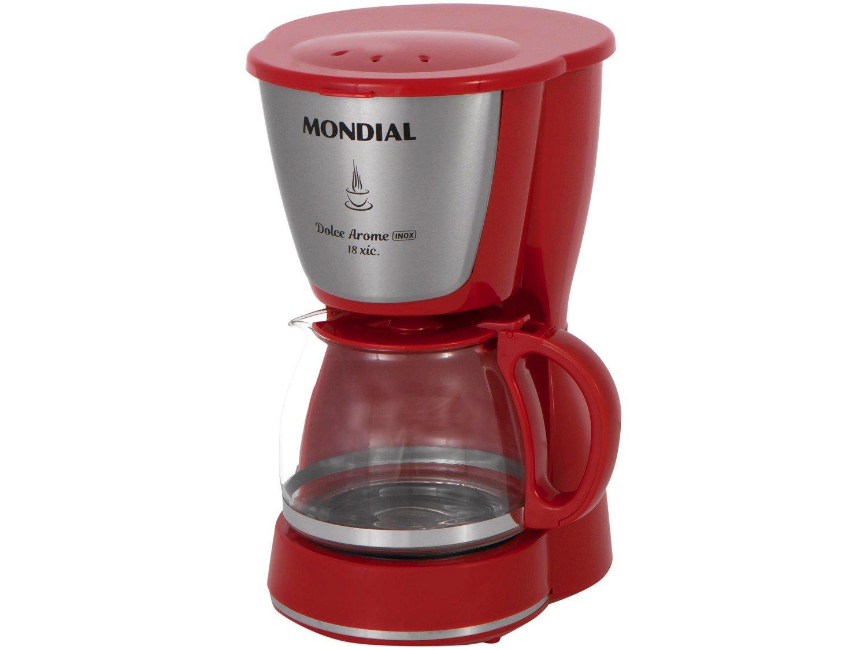Cafeteira Elétrica Mondial Dolce Arome Vermelha - 18 Xícaras - 110 V - 2
