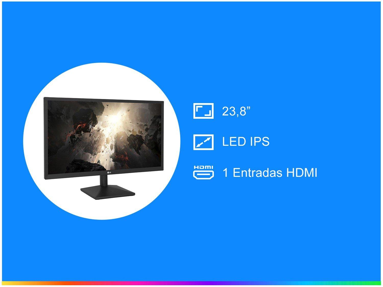 Foto 2 - Monitor para PC Full HD LG LED IPS 23,8 - 24MK430HN/AB.AWZ