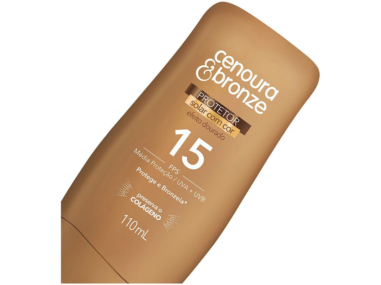 Foto 2 - Protetor Solar Corporal Cenoura & Bronze FPS 15 - Efeito Dourado 110ml