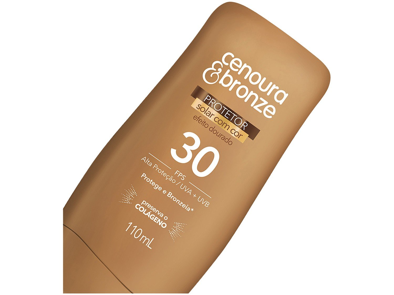 Foto 2 - Protetor Solar Corporal Cenoura & Bronze FPS 30 - Efeito Dourado 110ml