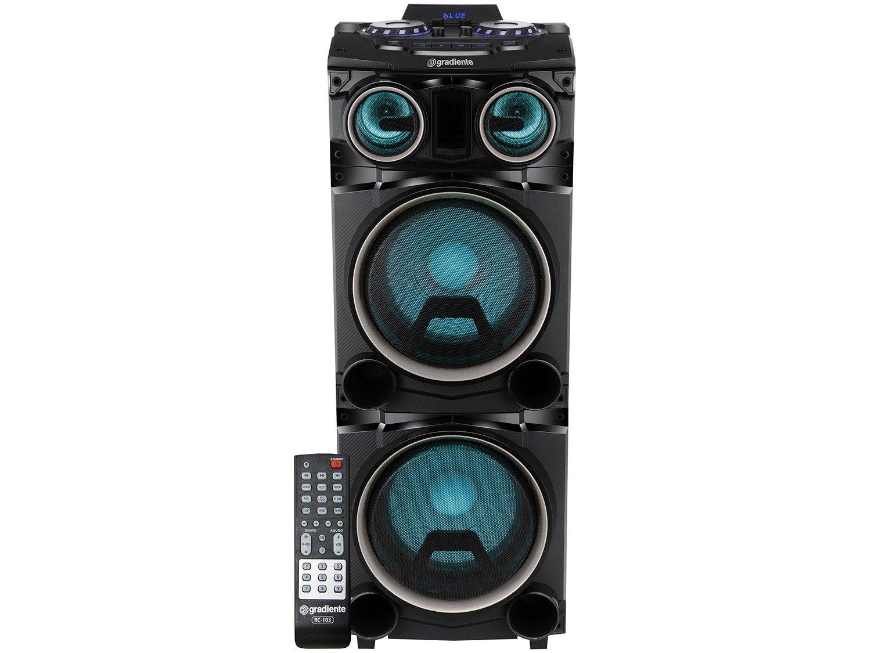 Caixa Amplificada Gradiente Power Bass GCA103 com Bluetooth, Rádio FM, Entrada Microfone e USB - 1500W - 3