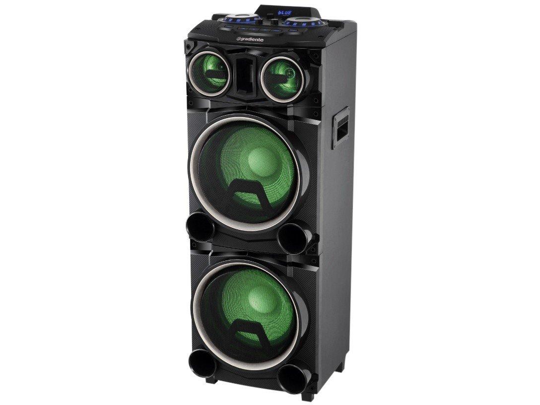 Caixa Amplificada Gradiente Power Bass GCA103 com Bluetooth, Rádio FM, Entrada Microfone e USB - 1500W - 7