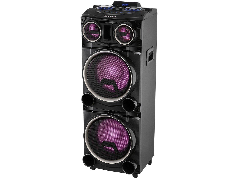 Caixa Amplificada Gradiente Power Bass GCA103 com Bluetooth, Rádio FM, Entrada Microfone e USB - 1500W - 11
