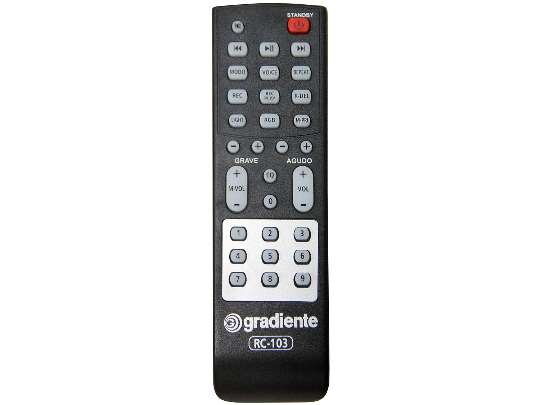 Caixa Amplificada Gradiente Power Bass GCA103 com Bluetooth, Rádio FM, Entrada Microfone e USB - 1500W - 12