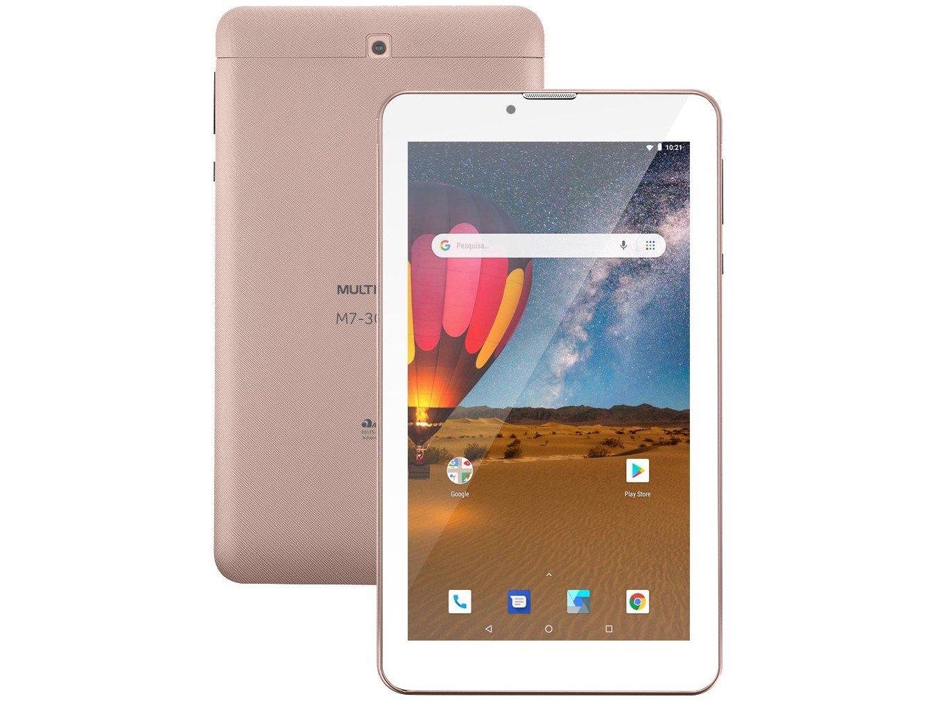"Tablet Multilaser M7 3G Plus NB305 16GB 7"" - 3G Wi-Fi Android 8.0 Quad Core Câmera Integrada - Bivolt"