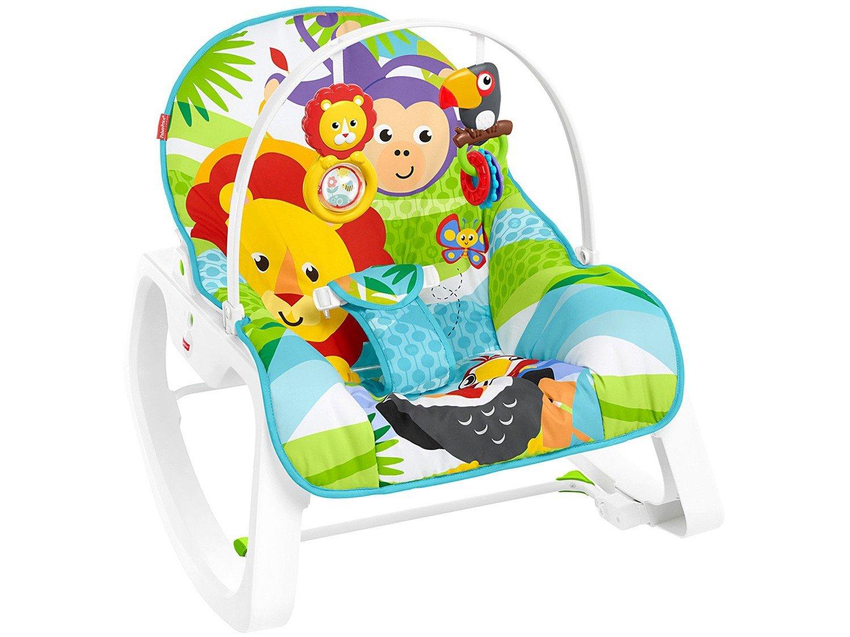 Cadeirinha de Descanso Fisher-Price Infant-to-Toddler Rocker Macaquinho e Leão - 3