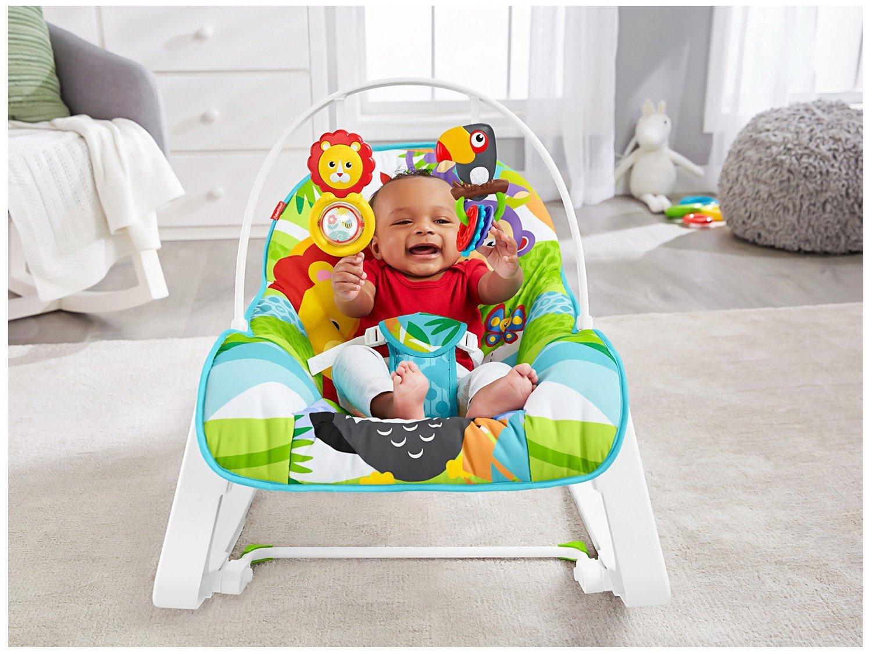 Cadeirinha de Descanso Fisher-Price Infant-to-Toddler Rocker Macaquinho e Leão - 7