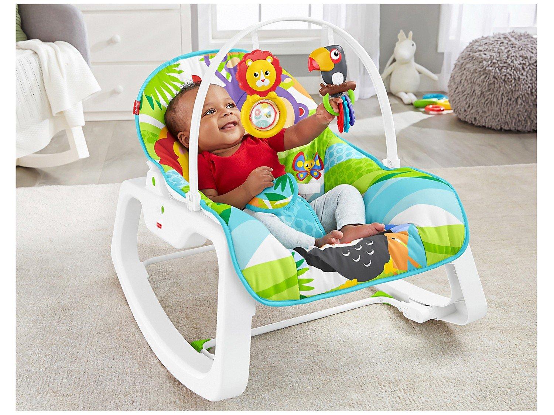Cadeirinha de Descanso Fisher-Price Infant-to-Toddler Rocker Macaquinho e Leão - 11