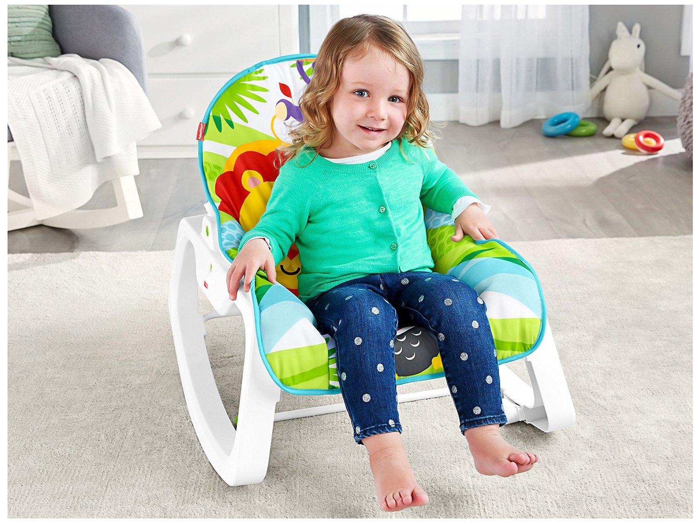 Cadeirinha de Descanso Fisher-Price Infant-to-Toddler Rocker Macaquinho e Leão - 16