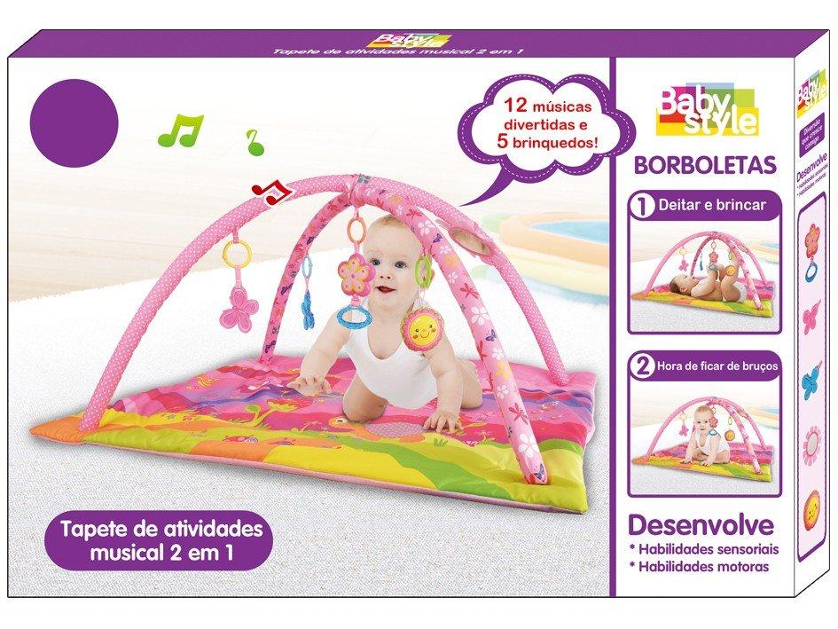 Tapete de Atividades Baby Style Borboletas - 7 Peças 88x81cm - 4
